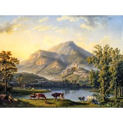 Jakob Hackert   Хаккерт Якоб - Ведута дИтри (Пейзаж с видом на Итри)