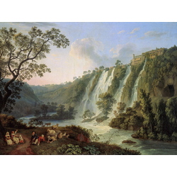 Jakob Hackert   Хаккерт Якоб - Villa des Maecenas und Wasserflle in Tivoli