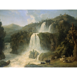 Jakob Hackert   Хаккерт Якоб - The Waterfall at Tivoli, 1785