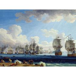 Jakob Hackert   Хаккерт Якоб - The Battle of Chesma on the 5th July 1770
