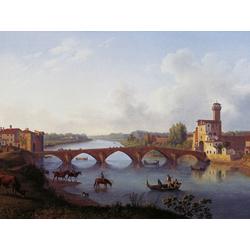 Jakob Hackert   Хаккерт Якоб - Der Ponte a Mare in Pisa (Toskana)