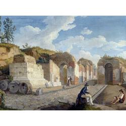 Jakob Hackert   Хаккерт Якоб - Das Herkulaner Tor in Pompeji