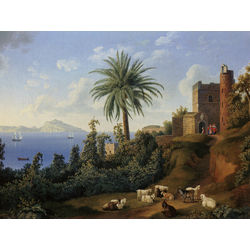 Jakob Hackert   Хаккерт Якоб - Blick vom Posillipo auf die Insel Capri