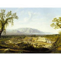 Jakob Hackert   Хаккерт Якоб - Blick auf die Ruinen von Pompeji