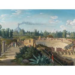 Jakob Hackert   Хаккерт Якоб - Blick auf das groe Theater von Pompeji