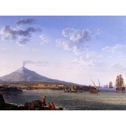 Jakob Hackert   Хаккерт Якоб - Blick auf Catania und den tna