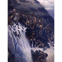 Surikov Vasily | Суриков Василий - Переход Суворова через Альпы, 1898