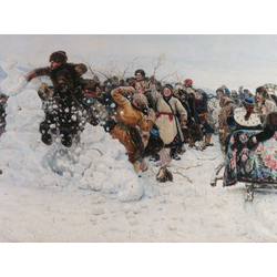 Surikov Vasily | Суриков Василий - Взятие снежного городка, 1891