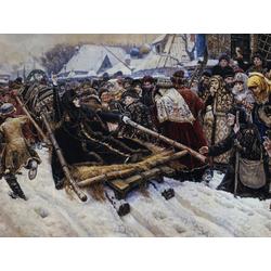 Surikov Vasily - The Execution of Boyarina Pajaritar Morozova, 1887 | Суриков Василий