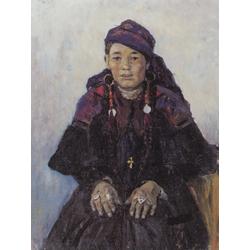 Surikov Vasily - Portrait of a Cossack Woman, 1909 | Суриков Василий
