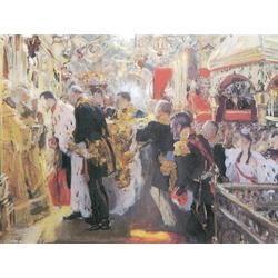 Серов Валентин Александрович - Коронация Николая II и Александры Фёдоровны, 1896