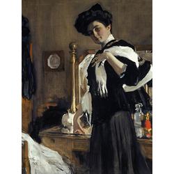 Серов Валентин Александрович - Портрет Г. Л. Гиршман, 1907