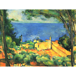 Cezanne Paul   Сезанн Поль - Эстак с красными крышами