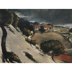 Cezanne Paul   Сезанн Поль - Тающий снег в Эстаке