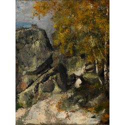 Cezanne Paul   Сезанн Поль - Скалы в лесу Фонтенбло