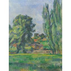 Cezanne Paul   Сезанн Поль - Пейзаж с тополями