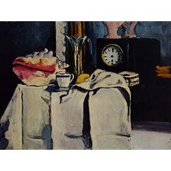 Cezanne Paul   Сезанн Поль - Натюрморт с часами из черного мрамора