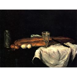 Cezanne Paul   Сезанн Поль - Натюрморт с хлебом и яйцами
