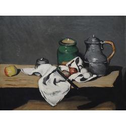 Cezanne Paul   Сезанн Поль - Натюрморт с зелёным сосудом и оловянным котлом