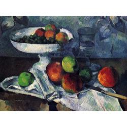 Cezanne Paul   Сезанн Поль - Натюрморт с блюдом для фруктов