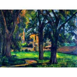 Cezanne Paul   Сезанн Поль - Каштаны и хозяйственные постройки в Жа де Буффан