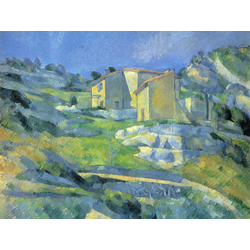 Cezanne Paul   Сезанн Поль - Дома в Провансе. Дома близ Эстаки