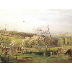 Alexei Savrasov   Саврасов Алексей - Сельский вид, 1867