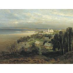 Alexei Savrasov   Саврасов Алексей - Печерский монастырь под Нижним Новгородом, 1871