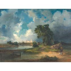 Alexei Savrasov   Саврасов Алексей - Вид на Кремль в непогоду, 1851