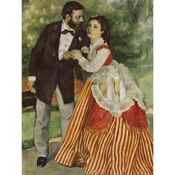 Pierr - Auguste Renoir   Ренуар Пьер - Портрет супругов Сислей