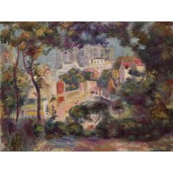 Pierr - Auguste Renoir   Ренуар Пьер - Пейзаж с видом на Сакре-Кёр