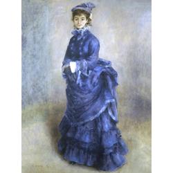 Pierr - Auguste Renoir   Ренуар Пьер - Парижанка. Дама в голубом