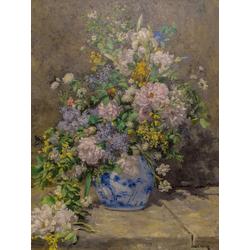 Pierr - Auguste Renoir   Ренуар Пьер - Натюрморт с большой цветочной вазой
