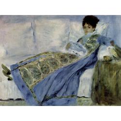 Pierr - Auguste Renoir   Ренуар Пьер - Мадам Моне на диване