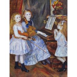 Pierr - Auguste Renoir   Ренуар Пьер - Дочери Катюля Мандеса у фортепиано