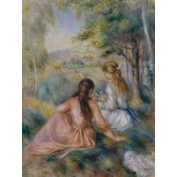 Pierr - Auguste Renoir   Ренуар Пьер - Девушки на лугу