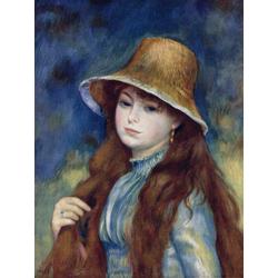 Pierr - Auguste Renoir   Ренуар Пьер - Девушка в соломенной шляпе