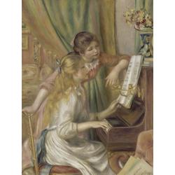 Pierr - Auguste Renoir   Ренуар Пьер - Две девушки у фортепиано