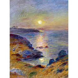Pierr - Auguste Renoir - Sunset at Douarnenez, 1883   Ренуар Пьер