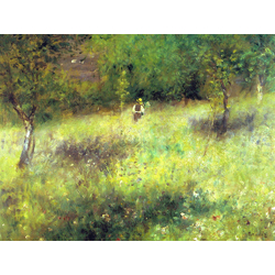 Pierr - Auguste Renoir - Spring at Chatou, 1875   Ренуар Пьер