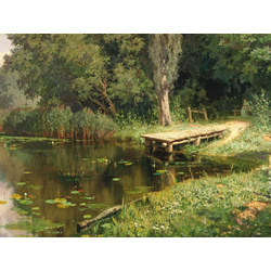 Polenov Vasily | Поленов Василий - Заросший пруд