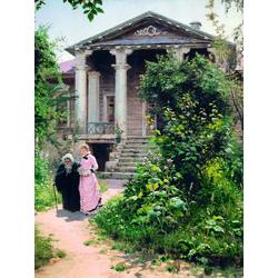 Polenov Vasily | Поленов Василий - Бабушкин сад, 1878