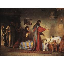Polenov Vasily - The Raising of Jairus daughter, 1871 | Поленов Василий