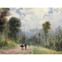 Polenov Vasily - Forest Pathway, 1874 | Поленов Василий
