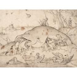 Pieter Bruegel   Питер Брейгель - Большая рыба кушает маленькую рыбу, 1556
