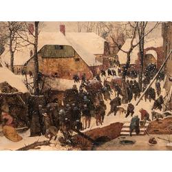 Pieter Bruegel   Питер Брейгель - Поклонение волхвов в зимнем пейзаже
