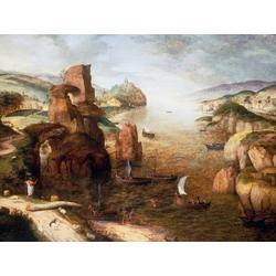 Pieter Bruegel   Питер Брейгель - Пейзаж с Христом и апостолами на Тивериадском озере