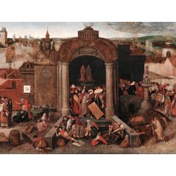 Pieter Bruegel   Питер Брейгель - Христос изгоняет торговцев из храма