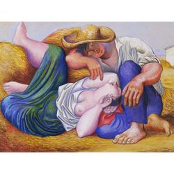 Pablo Picasso | Пабло Пикассо - Спящие крестьяне
