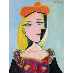 Pablo Picasso | Пабло Пикассо - Женщина в оранжевом берете и меховом воротнике